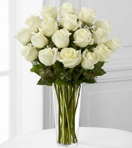 The White Rose Bouquet Vase Arrangement