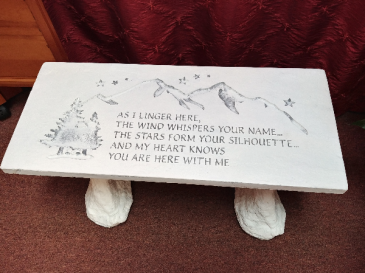 The wind whispers your name Memorial Bench