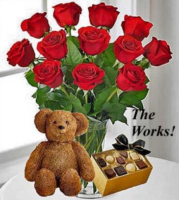 The Works! flower arrangement