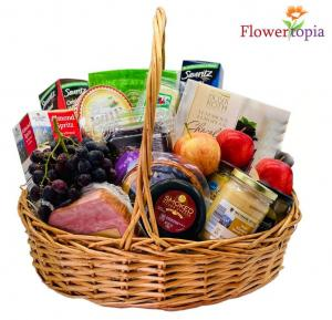 The Works Gift Basket in Miami, FL | FLOWERTOPIA