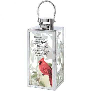 Their Light Remains Cardinal Lantern