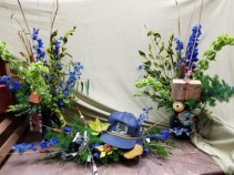 Themed Funeral arrangements Sympathy arrangement and 2 companion pieces