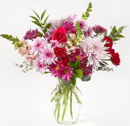 THINK PINK BOUQUET SHADES OF PURPLE AND PINK