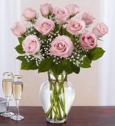 Think Pink Roses Breast Cancer Awareness Arrangement