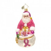 Think Pink Nick Christopher Radko Ornament