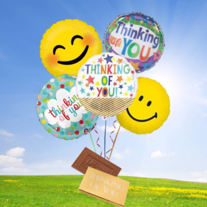 Thinking of You Balloon bouquet-DeBrand candy bar