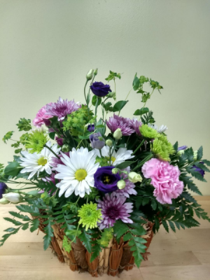 Thinking of You Basket Arrangement in Lebanon, NH | LEBANON GARDEN OF EDEN FLORAL SHOP