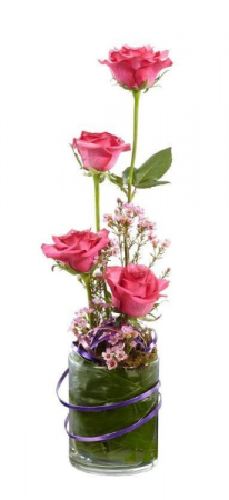 I'm Crazy Over You Flower design only offered in one size as shown