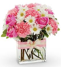 Thinking of you Mom Lovely Bouquet of Pinks and White!