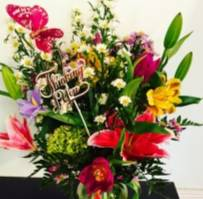 designer choice  colorful mix flowers