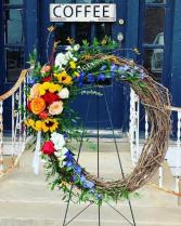 Thinking of your Wreath Sympathy Spray Wreath
