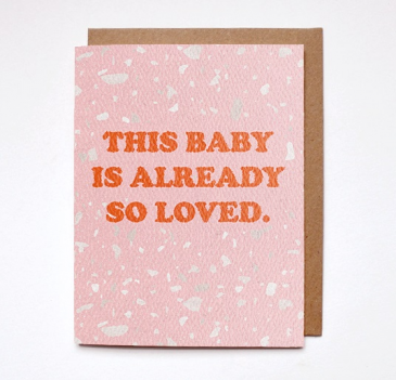 This Baby is So Loved Greeting Card