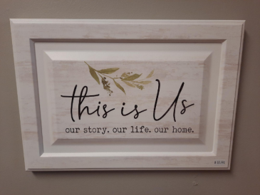 This is Us wooden sign Giftware