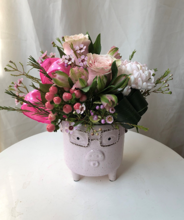 This little Piggy Came Home Baby Arrangement