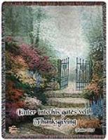 THOMAS KINCADE -GARDEN OF PROMISE  AFGHAN in White Oak, PA | Breitinger's Flowers & Gifts