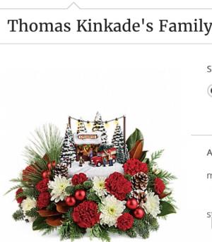 Thomas Kincade Family Lighted Kincade House in Fairfield, OH   NOVACK-SCHAFER FLORIST