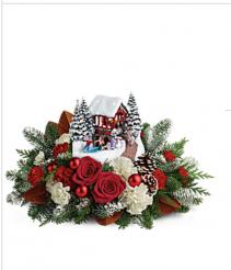 Thomas Kincade Snowfall Dreams Fresh flowers