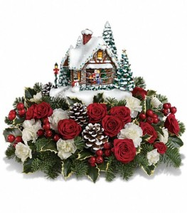 Thomas Kinkade's 2014 A Kiss for Santa in Glasgow, MT | GLASGOW FLOWER & GIFT