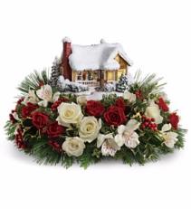Thomas Kincaid Childhood House bouquet