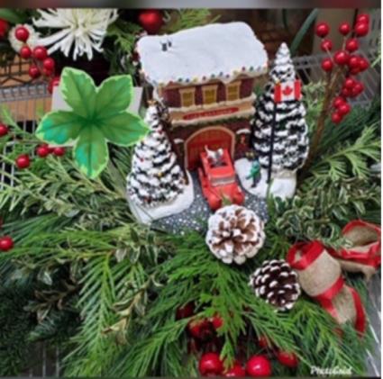 "Thomas Kincaid Keepsake ""Firehouse"" Christmas"