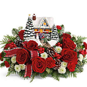 Thomas Kinkade A Hero's Welcome  Centerpiece and keepsake in Chesterfield, MO | ZENGEL FLOWERS AND GIFTS