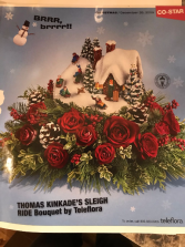 THOMAS KINKADE CHRISTMAS CENTERPIECE CHRISTMAS ARRANGEMENT