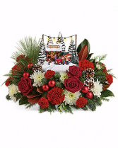 Thomas Kinkade Family Tree Christmas Flowers