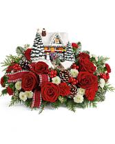 Thomas Kinkade Heros' Welcome Christmas center piece