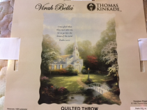 Thomas Kinkade Hometown Chapel  Quilted Throw