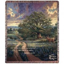 Thomas Kinkade Throw - Country Living