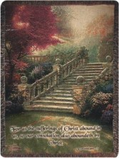 Thomas Kinkade throw - Stairway to Paradise