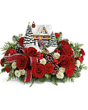 Thomas Kinkade's A Hero's Welcome Bouquet Christmas Keepsake Arrangement in Loganville, GA | Flowers From The Heart