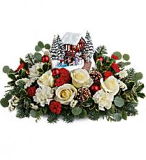 Thomas Kinkade's Christmas Bridge Christmas Flowers