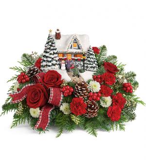 Thomas Kinkade's Christmas Centrepiece  in Prince George, BC | PRINCESS FLOWERS & BOUTIQUE