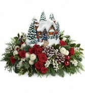 Thomas Kinkade's Country Christmas Homecoming Keepsake Centerpiece