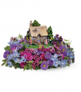 Thomas Kinkade's Easter Egg Hunt Bouquet  One-Sided Floral Arrangement