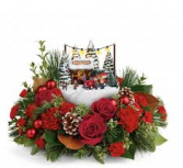 Thomas Kinkade's Family Tree Bouquet Christmas Arrangement