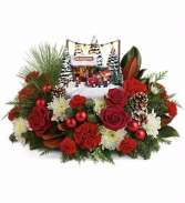 Thomas Kinkade's Family Tree Bouquet Christmas Flowers