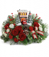 Thomas Kinkade's Festive Fire Station Bouquet Teleflora