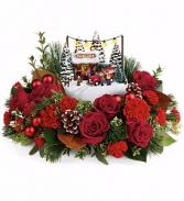 Thomas Kinkade's Festive Moments Bouquet Christmas Flowers