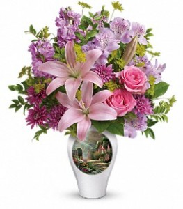 Thomas Kinkade's Radiant Vase by Teleflora  in Presque Isle, ME | COOK FLORIST, INC.