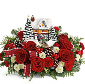 Thomas Kinkade's Hero Welcome Bouquet Keepsake in Wheaton, IL | All Flowers With Expressions