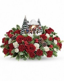 Thomas Kinkade's Jolly Santa Bouquet Holiday