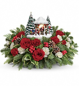 Thomas Kinkade's Jolly Santa  Christmas in Azle, TX | QUEEN BEE'S GARDEN