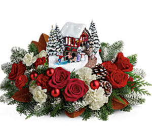 Thomas Kinkade's Snowfall Dreams Bouquet Arrangement in Croton On Hudson, NY | Cooke's Little Shoppe Of Flowers
