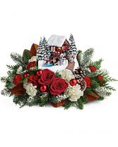 THOMAS KINKADE'S SNOWFALL DREAMS BOUQUET Christmas Arrangment