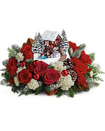 Thomas Kinkade's Snowfall Dreams Bouquet Christmas Collectible