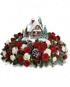 Thomas Kinkade's A Kiss For Santa Thomas Kinkade's Keepsake Arrangement in Arlington, MA | FLORAL ART DESIGNS
