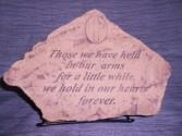 """Those We Have Held"" Sympathy Stone Sympathy"