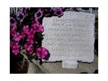 """Those We Love 11.5"""" x 11"""" Memorial Stone"""